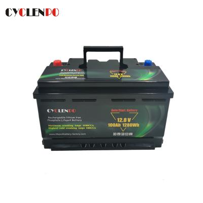 Factory Supply Lifepo4 Starter Battery 12V 100Ah