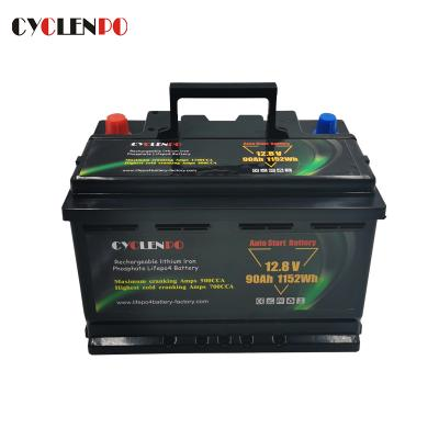 Manufacturer Supply 12V 90Ah Lifepo4 Cranking Battery For Automotive