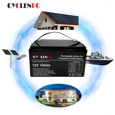 lifepo4 bms 4s 12v battery lithium ion 12v 100ah for craavan/boat/marine