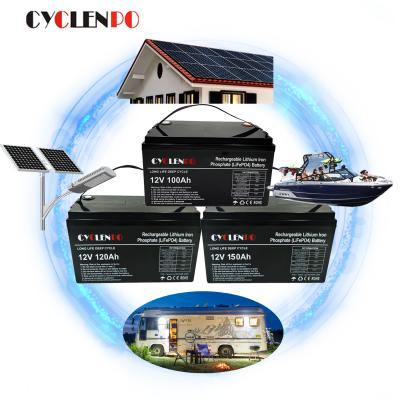 Manufacturer supply 12v 100ah lifepo4 battery for rv camper  for marine/boat
